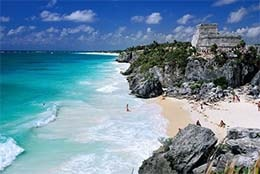 Tulum, located in the Riviera Maya in Mexico